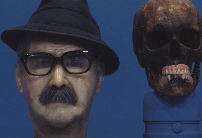 Reconstitution du visage de Josef Mengele d'après son crâne, effectuée au Brésil en 1986.