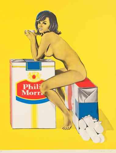 «Mel Ramos utilisait des images issues de magazines pour ses tableaux et impressions de la figure féminine, en les plaçant notamment parmi des objets de la vie courante. Cette juxtaposition offre, sans ironie délibérée, une vision de la représentation de la femme dans les médias.»