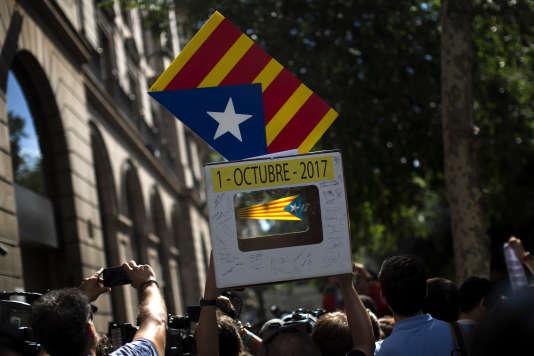 L'exécutif séparatiste de Catalogne a décidé d'organiser coûte que coûte un référendum d'autodétermination, le 1eroctobre.