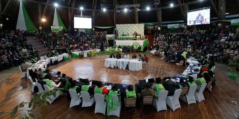 La Commission électorale kényane en réunion, le 11 août 2017, à Nairobi.