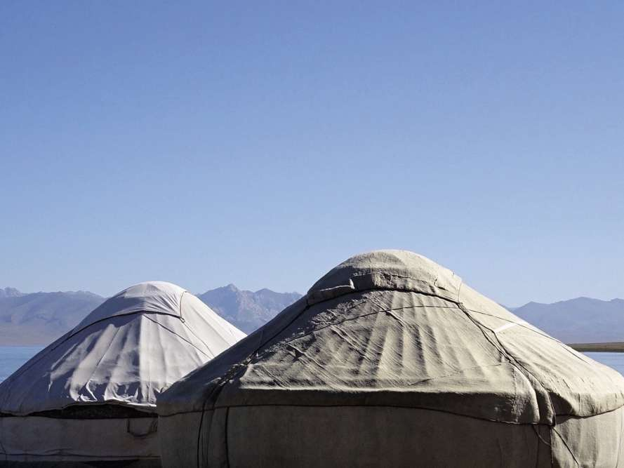 « Cet été, près du lac Son Koul, au Kirghizistan. »