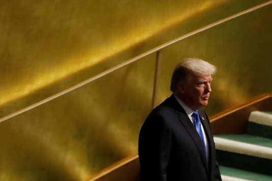 Donald Trump à la tribune de l'Assemblée générale des Nations Unies, le 19 septembre.
