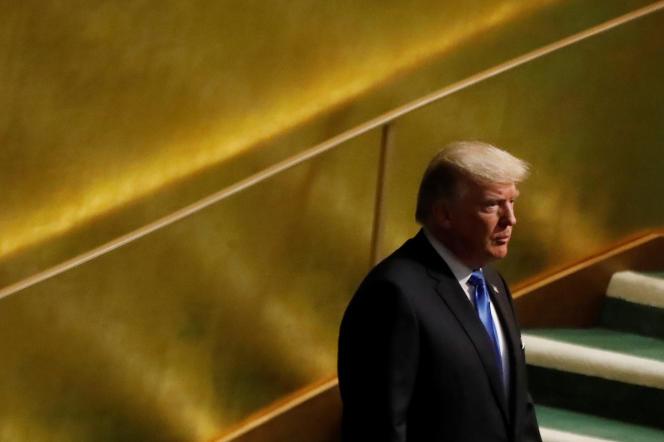 Donald Trump à la tribune de l'Assemblée générale des Nations Unies, le 19 septembre.