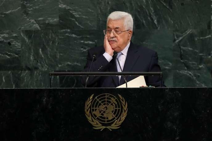 Mahmoud Abbas, président de l'Autorité palestienne, à l'Assemblée générale des Nations unies, le 20 septembre 2017 à New York.