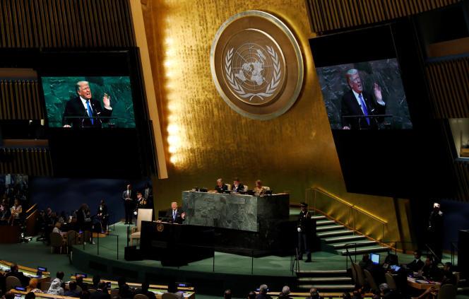 Discours de Donald Trump aux Nations unie, à New York, le 19 septembre.
