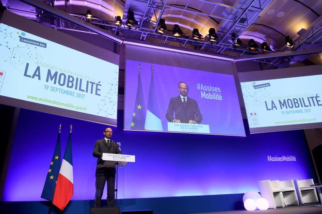 Edouard Philippe, le 19 septembre à Paris, lors du lancement des Assises nationales de la mobilité.