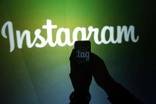 Le logo du réseau social Instagram, propriété de Facebook, en juin 2013.