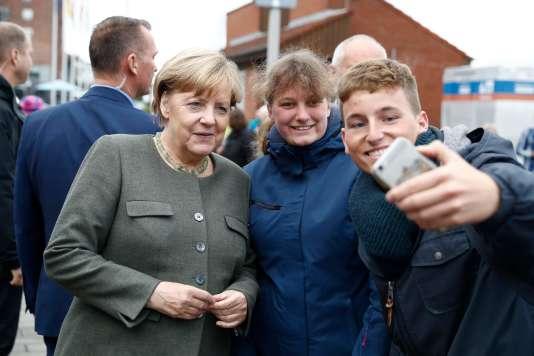 Angela Merkel le 20 septembre, en campagne électorale dans le nord de l'Allemagne.