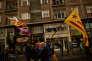 Drapeaux catalans et basque lors d'une manifestation pour l'indépendance de la Catalogne, à Bilbao, le 16 septembre.