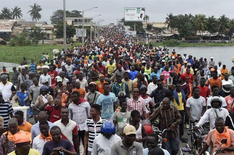 Manifestation contre le régime de Faure Gnassingé à Lomé, le 7 septembre 2017.