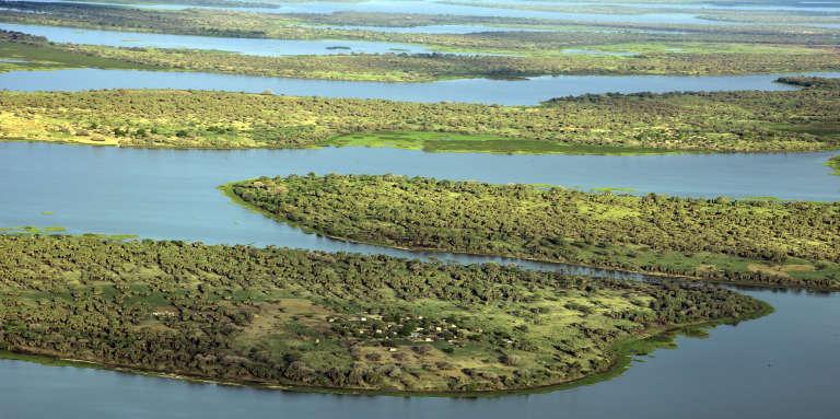 Le lac Tchad dans la région de Bol, à 200km de N'Djamena, en 2016.