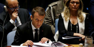 French President Emmanuel Macron attends a U.N. Security Council meeting on peacekeeping at the 72nd United Nations General Assembly at U.N. headquarters in New York, U.S., September 20, 2017. REUTERS/Shannon Stapleton