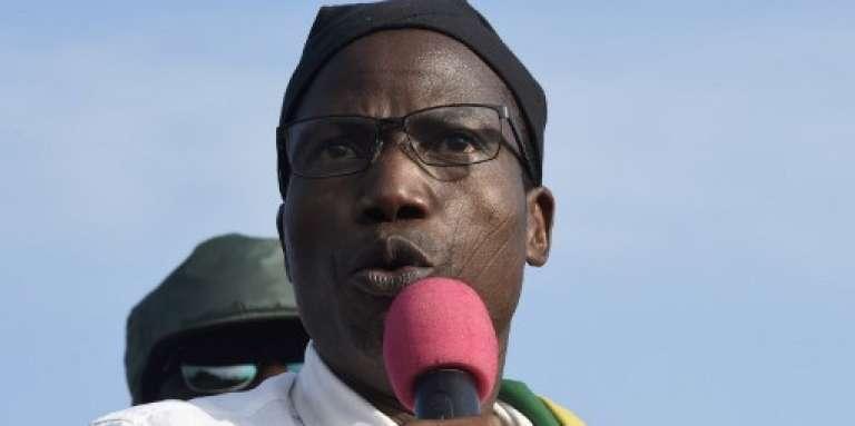 L'opposant togolais Tikpi Atchadam à Lomé, lors d'une manifestation contre le pouvoir de Faure Gnassingbé, le 6 septembre 2017.