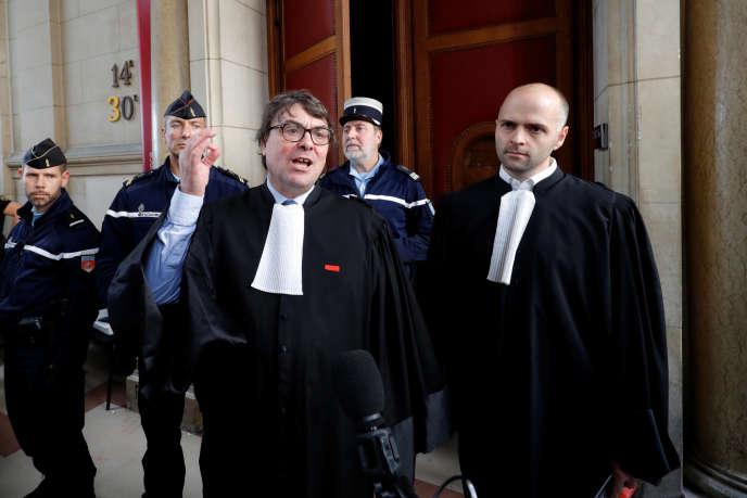 Le bâtonnier de Paris, Frédéric Sicard, au palais de justice de Paris, le 19 septembre.