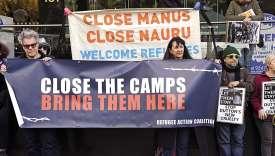 Le 31 août, à Sydney, des avocats se sont mobilisés contre la décision du gouvernement australien de priver de soutien financier les réfugiés placés sous le régime du « final departure Bridging E Visa ».