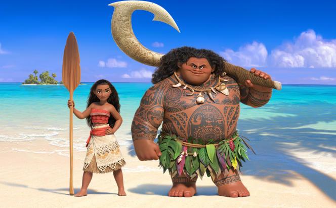 La princesse Moana et le demi-dieu Maui.
