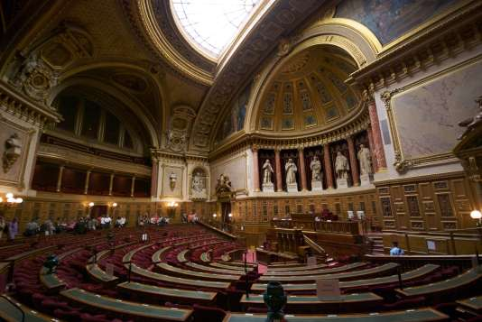 L'hémicycle du Sénat français, au Palais du Luxembourg.