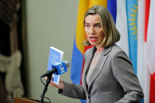 Federica Mogherinia a défendu l'accord nucélaire iranien, refusant « une seconde crise nucléaire», le mercredi 20 septembre.