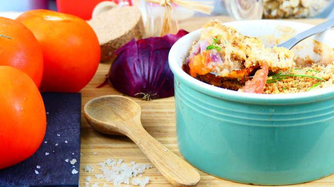 Crumble de tomates proposé sur CookMinute.