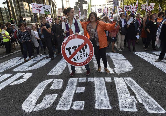Manifestation contre le CETA en 2016.