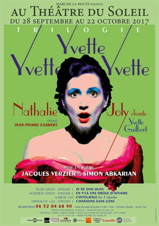 Affiche du spectacle« Yvette, Yvette, Yvette!», par Nathalie Joly.