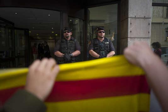 Mobilisation pour appeler à voter au référendum d'autodétermination sur l'indépendance de la Catalogne, à Barcelone le 20 septembre.