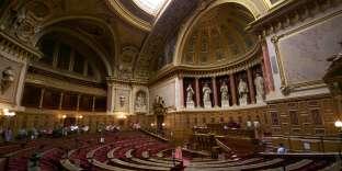 L'hémicycle du Sénat français, au sein du Palais du Luxembourg.