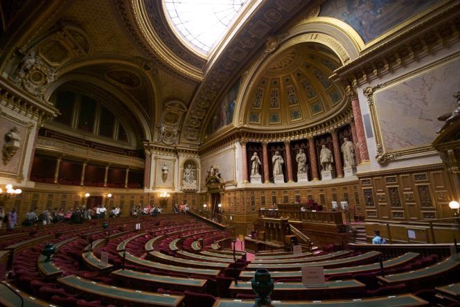 «Le Sénat doit rester le représentant de tous les territoires et ne pas devenir une assemblée des métropoles» (L'hémicycle du Sénat, au sein du Palais du Luxembourg).