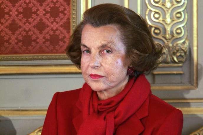 Liliane Bettencourt, fille du fondateur du groupe L'Oréal,en avril 2005.
