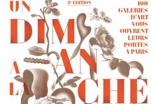 Affiche (détail) d'« Un dimanche à la galerie» à Paris.