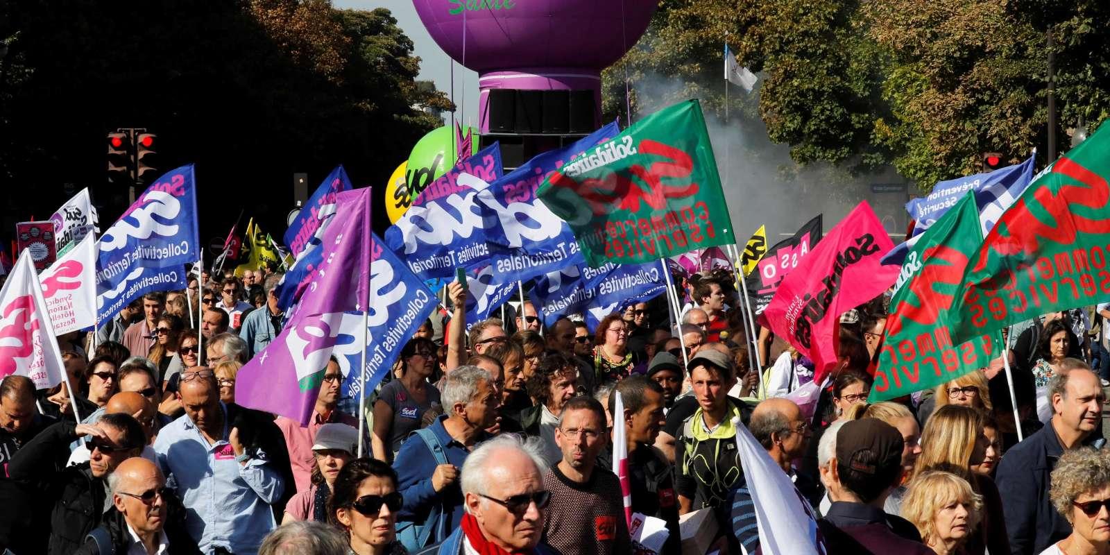 Plusieurs syndicats manifestent, jeudi 21 septembre à Paris, pour tenter d'infléchir la position du gouvernement sur sa réforme du code du travail.