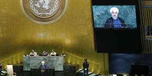 Hassan Rouhani, le président iranien, prend la parole devant l'Assemblée générale des Nations unies, le 20 septembre.