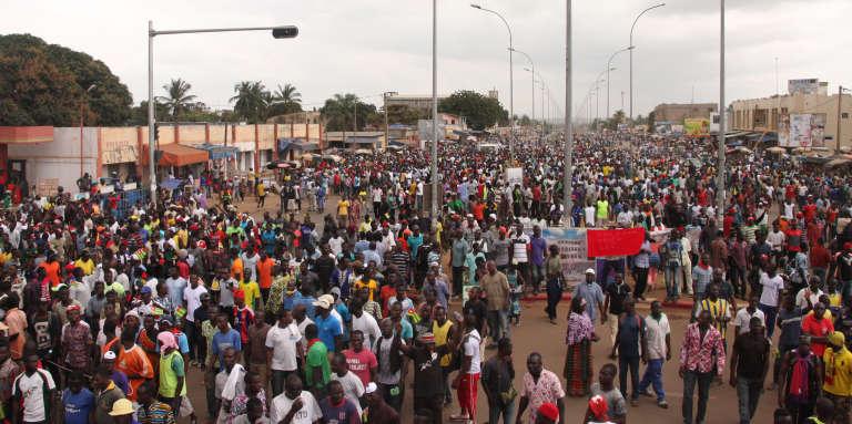 A Lomé, la capitale du Togo, lors de la manifestation du 20septembre 2017.
