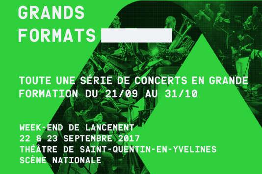 Affiche (détail) des concerts de rentrée des orchestres Grands Formats.