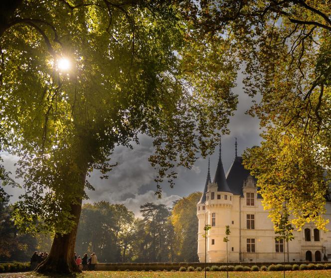 Couleurs d'automne à Azay-le-Rideau.
