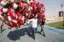 A Erbil (Irak), des ballons aux couleurs du Kurdistan irakien, avant le référendum du 25 septembre ouvrant la voie à l'indépendance de cette région autonome.