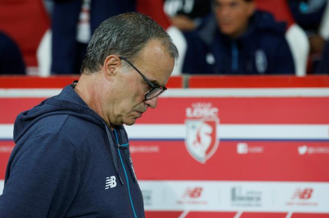 Marcelo Bielsa après la défaite à domicile face à Monaco (0-4), le 22 septembre REUTERS/Pascal Rossignol