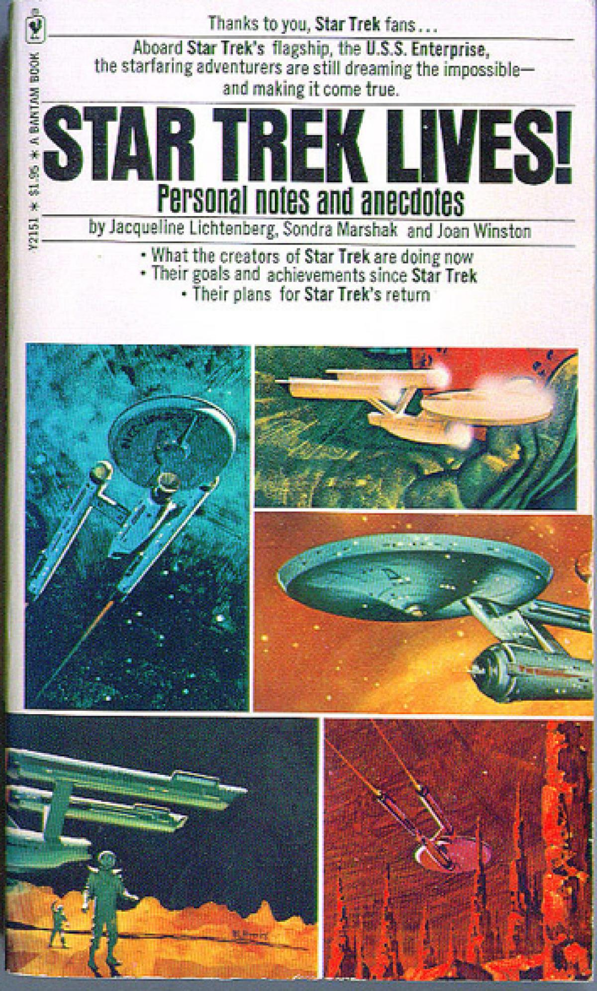 La couveture de« Star Trek Lives!» de Jacqueline Lichtenberg.