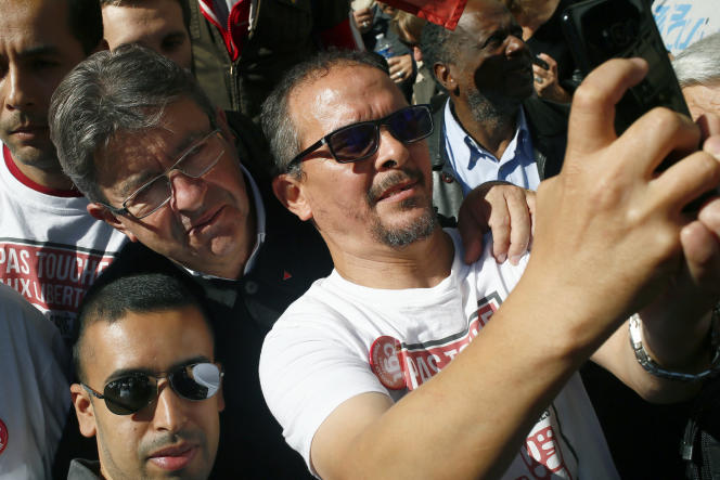 Jean-Luc Mélenchon lors de la manifestation du 21 septembre, à Paris.