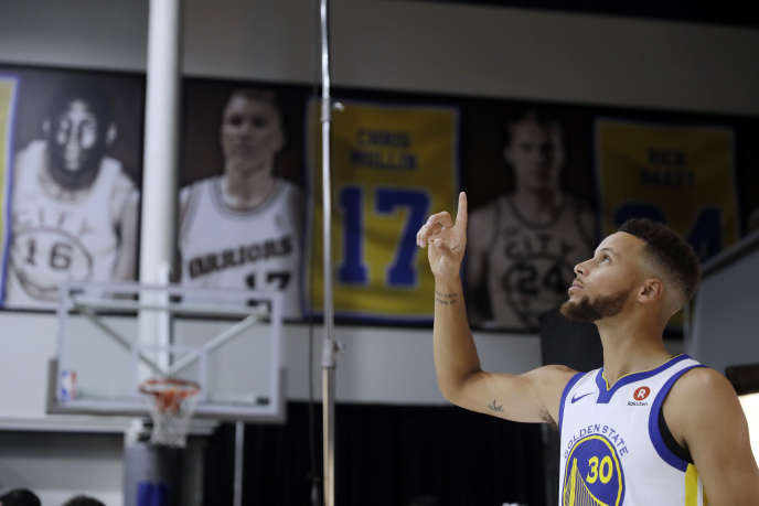 Le joueur des Golden State Warriors, Stephen Curry, à Oakland en Californie, le 22 septembre.