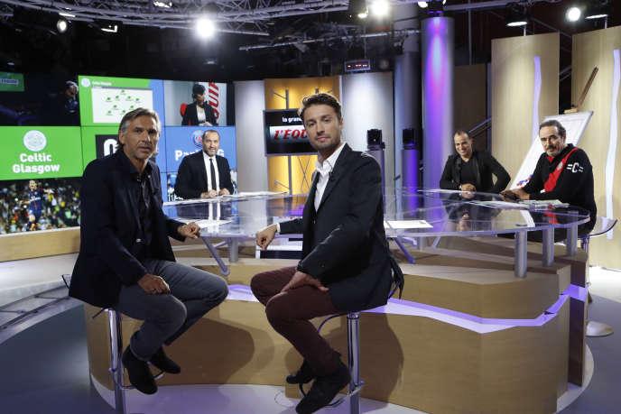 L'émission «La Grande Soirée», de gauche à droite:Régis Brouard, Messaoud Benterki,Pierre Nigay,Saïd Ennjimi et Didier Roustan.