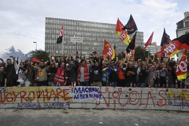 Manifestants à Nantes, le 21 septembre.