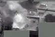 La frappe d'un drone à Abou Kamal, en Syrie, le 9 mai 2017.