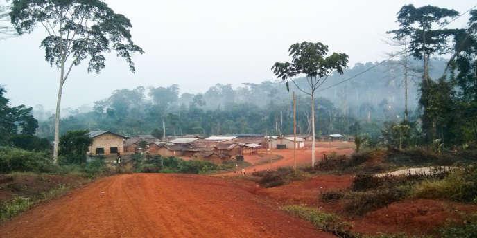 Le village deMbalam, riche en minerai de fer, en 2014, dans le sud du Cameroun, à la frontière du Congo-Brazzaville.