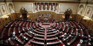 L'hemicycle du Sénat en 2014.