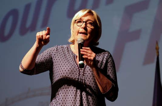 Marine Le Pen, à Brugières le 23 septembre.
