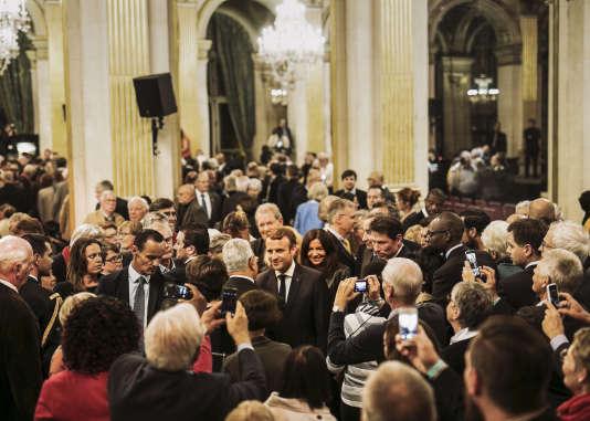 Emmanuel Macron rencontre les représentants des cultes à l'occasion du demi-millénaire de la Réforme, le 22 septembre.
