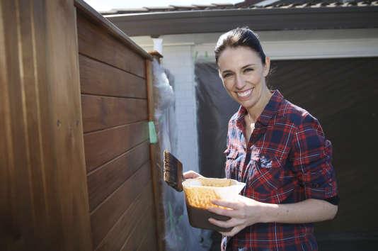 Jacinda Ardern, chef de file du Parti travailliste néo-zélandais, à Auckland, le 23 septembre.