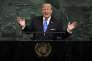 Le président américain Donald Trump, àl'Assemblée générale des Nations unies, à New York, le 19 septembre 2017.