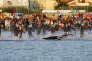 «D'après une étude italienne, une lecture performante d'un électrocardiogramme de repos permettrait de faire diminuer de 90% la mortalité des sportifs de moins de 35 ans» (Photo: triathlon Ironman en Italie, le 23 septembre).